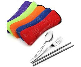 Cutlery Case With Cutlery