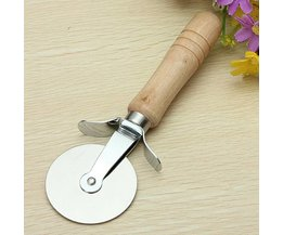Pizza Cutter Stainless Steel With Houetn Handle