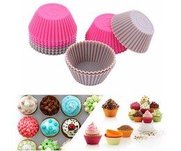 12 Silicone Cupcakevormen