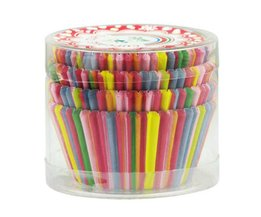 Cupcake Paper Pieces With Stripes