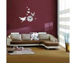 Wall Sticker Clock & Birds