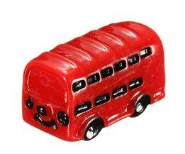 Red Bus Mini Micro Landscape Decoration
