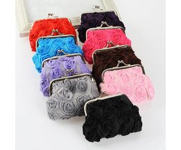 Purse With Roses Motif