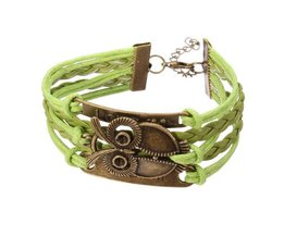 Love Bracelet Owl With Multiple Layers