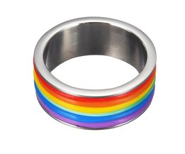 Rainbow Ring 9Mm Wide Titanium