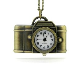 Pocket Watch On Chain With Camera Shape