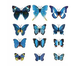 Decoration Butterflies 3D Stickers Magnet