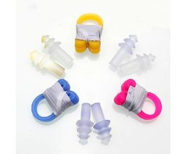 Nose Clip And Earplugs For Swimming