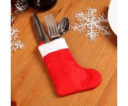 Christmas Table Decoration Cutlery Decoration 10Pcs