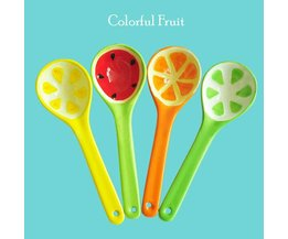 Spoon With Fruit Print