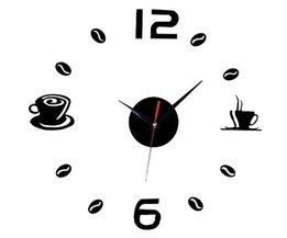 Clock Wall Sticker Coffee