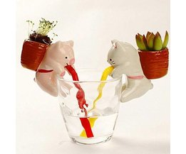Water Absorbent Flower Pot Animals In Shape