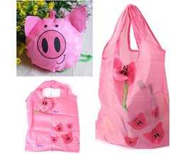 Foldable Shopping Bag With Piglets
