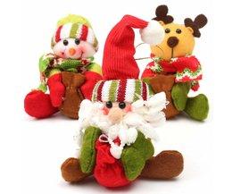 Christmas Hug In Santa And Reindeer