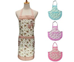Apron With Flower Pattern