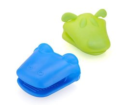 Silicone Oven Mitts Hippo