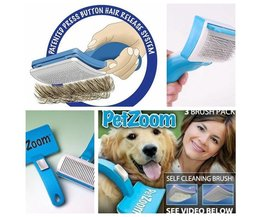 Self-Cleaning Animal Brush With Trimmer
