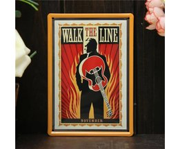 Metal Wall Charts With Guitar Design