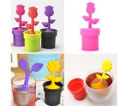 Tea Infuser With Flower Design