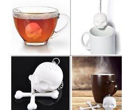 Tea Strainer In Skull Shape