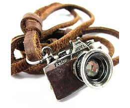 Retro Leather Pendant Camera For Man