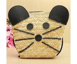 Wicker Bag With Mouse Image