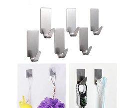 6 Bathroom Hooks