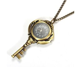 To Watch Necklace In The Shape Of A Key
