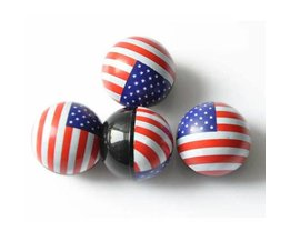 Valve Caps Car And Motorcycle Tire In American Flag Colours