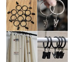 Curtain Rings With Clip 10Pcs