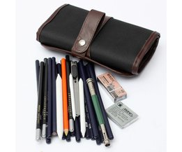 Pencil Pouch With 18Potloden Gum Knife