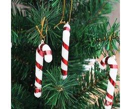 Candy Cane Christmas Decoration Plastic 10Pcs