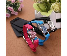 Dog Collar Rhinestone Heart