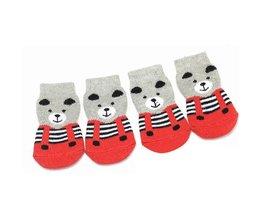 Dog Socks Anti-Slip Bear
