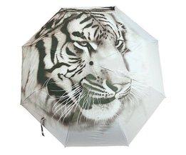 Umbrella With Tiger Design
