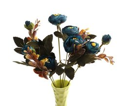 Beautifully Colorful Bouquet Silk Artificial Flowers