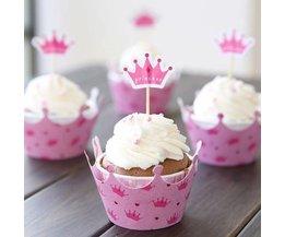 Princess Cupcake Cups 12 Pieces