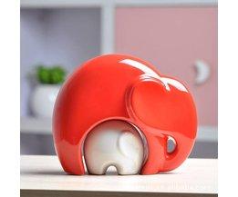 Decorative Figurine Elephant Baby Elephant Ceramics