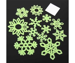Glow-In-The-Dark Snowflake Stickers 12 Pieces