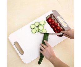Convenient Antibacterial Cutting Board With Collection Container