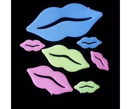 Glow In The Dark Stickers With Lips (Set)