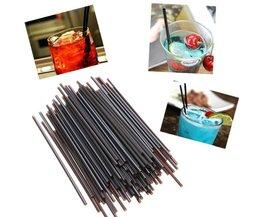Black Straws 100 Pieces Of Plastic