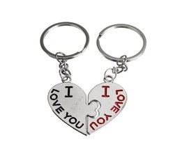 Keyring With Heart In 2 Parts