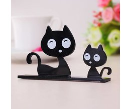 Cute Cat And Owl Decoration With Adhesive Strip