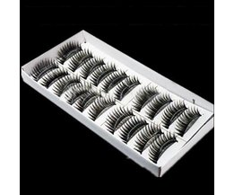 Black False Eyelashes 10 Pair