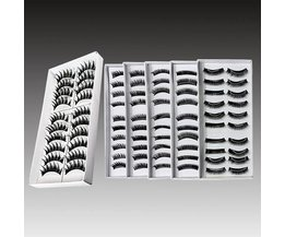 Stylish Black False Eyelashes 10 Pair