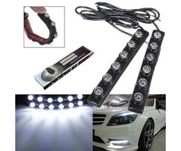LED Daytime Running Lights White 2 Pieces For Car
