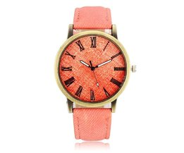 Casual Jeans Watch With Roman Numerals
