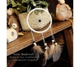 Dreamcatcher With Feathers Handmade