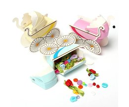 Pink Baby Wagon Gift Boxes For Babyshowers 10 Pieces